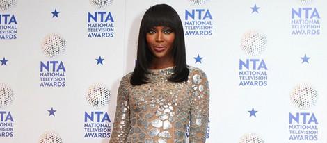 Naomi Campbell en los premios de la televisión británica 2014