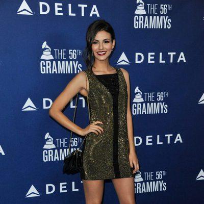 Victoria Justice en una fiesta pre-Grammy 2014 organizada por Delta Airlines
