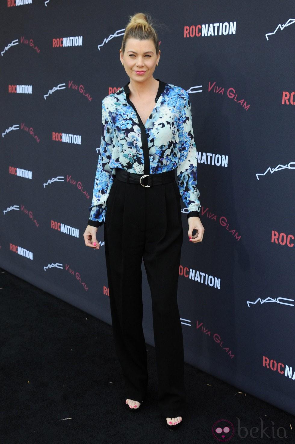 Ellen Pompeo en el brunch previo a la entrega de los Premios Grammy 2014