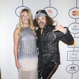 Victoria Azarenka y Redfoo en la fiesta Pre-Grammy 2014 de Clive Davis