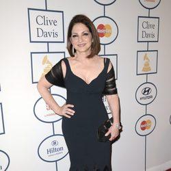Gloria Estefan en la fiesta Pre-Grammy 2014 de Clive Davis