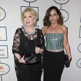Joan Rivers y Melissa Rivers en la fiesta Pre-Grammy 2014 de Clive Davis