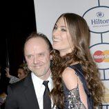 Lars Ulrich y Jessica Miller en la fiesta Pre-Grammy 2014 de Clive Davis