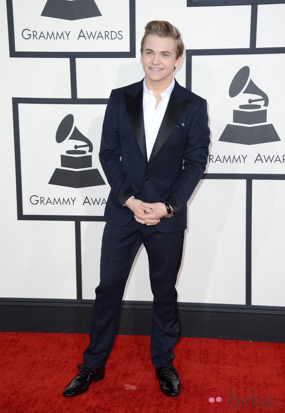 Hunter Hayes en la alfombra roja de los Grammy 2014