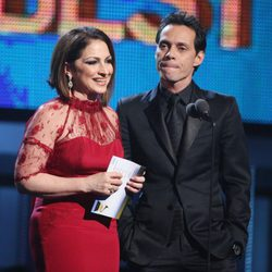 Gloria Estefan y Marc Anthony en la entrega de los Grammy 2014