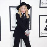 Madonna en la alfombra roja de los Grammy 2014