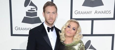 Rita Ora y Calvin Harris en los Grammy 2014