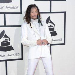 Steven Tyler en la alfombra roja de los Grammy 2014