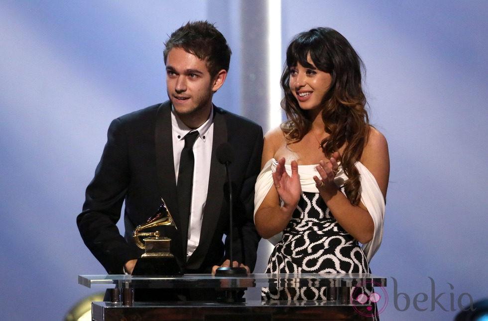 Zedd y Foxes recogen su premio en los Grammy 2014