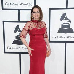 Gloria Estefan en la alfombra roja de los Grammy 2014