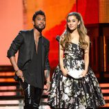 Miguel y Ariana Grande en la gala de los Grammy 2014
