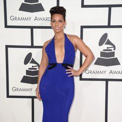 Alicia Keys en la alfombra roja de los Grammy 2014