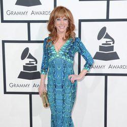 Kathy Griffin en la alfombra roja de los Grammy 2014