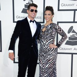 Robin Thicke y Paula Patton en los Grammy 2014