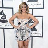 Ashanti en la alfombra roja de los Grammy 2014