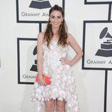 Sara Bareilles en la alfombra roja de los Grammy 2014