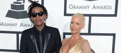 Wiz Khalifa y Amber Rose en los Grammy 2014