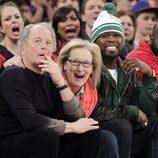 Meryl Streep, Don Gummer y 50 Cent en un partido de la NBA entre los Knicks y Los Lakers