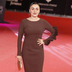 Candela Peña en la alfombra roja de los Premios Feroz 2014