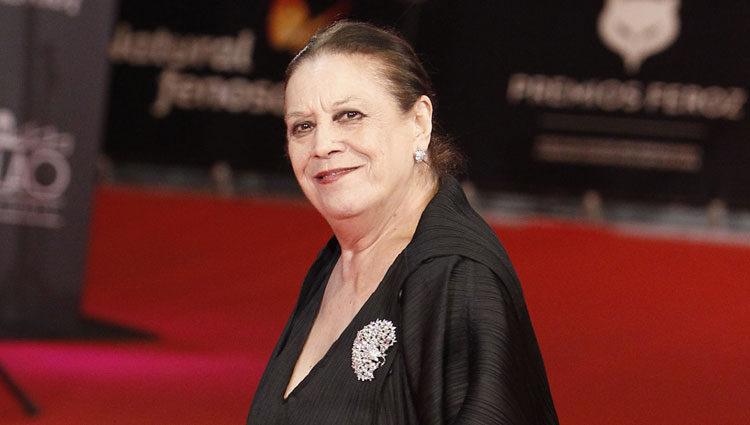 Terele Pávez en la alfombra roja de los Premios Feroz 2014