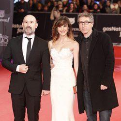 Javier Cámara, Natalia de Molina y David Trueba en la alfombra roja de los Premios Feroz 2014