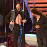 Felipe López presume de abdominales en la primera gala de '¡Mira quién baila!'