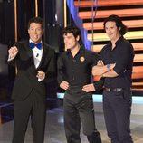 Jaime Cantizano, Miguel Abellán y Poty en la primera gala de '¡Mira quién baila!'