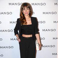 Raquel Jiménez en el front row de Mango en la 080 Barcelona Fashion 2014
