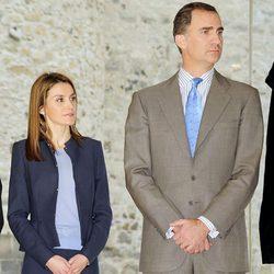 Los Príncipes de Asturias visitan el Castillo de La Luz en Gran Canaria