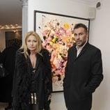 Cristina Tárrega y Mami Quevedo en la inauguración de la exposición de cuadros de Blanca Cuesta