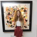 Blanca Cuesta en la inauguración de su exposición de cuadros