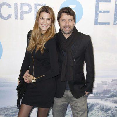 Laura Sánchez y David Ascanio en el estreno de la serie 'El Príncipe'