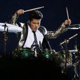 Bruno Mars actuando en la Super Bowl 2014