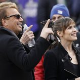 Kevin Costner y Jennifer Garner en la Super Bowl 2014