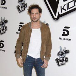 David Bisbal en la presentación de 'La Voz Kids'