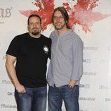 Esteban Roel y Juan Fernando Andrés en la presentación del fin del rodaje de 'Musarañas'