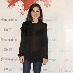 Nadia de Santiago en la presentación del fin del rodaje de 'Musarañas'