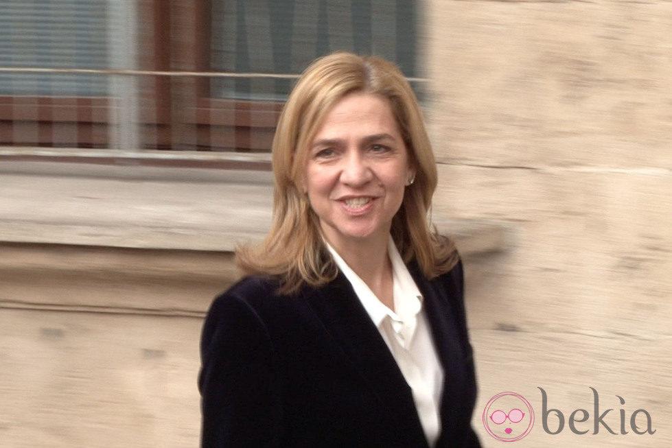 La Infanta Cristina dice que está bien antes de su declaración