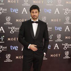 Hugo Silva en la alfombra roja de los Premios Goya 2014