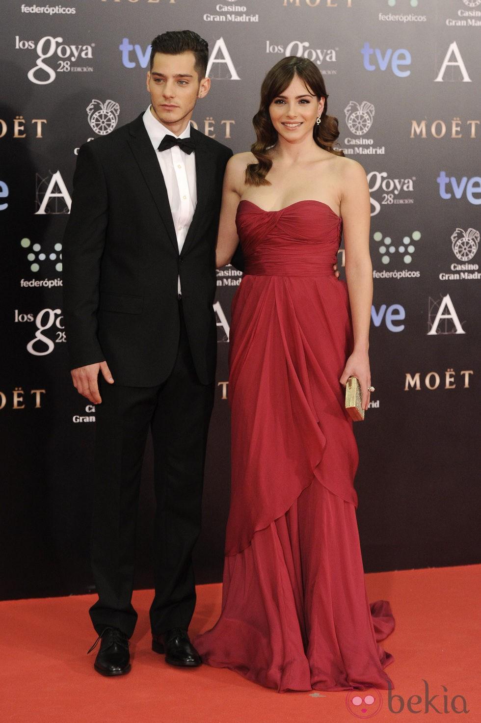 Joel Bosqued y Andrea Duro en los Goya 2014