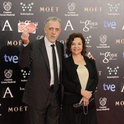 Fernando Trueba y Crsitina Huete en los Goya 2014