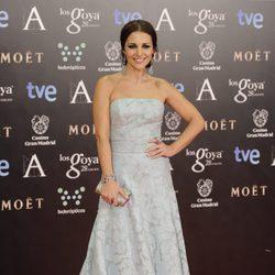 Paula Echevarría en la alfombra roja de los Goya 2014