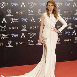 Cristina Castaño en la alfombra roja de los Goya 2014