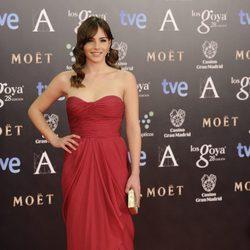 Andrea Duro en la alfombra roja de los Goya 2014