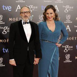 Ana Milán y Fernando Guillén Cuervo en los Goya 2014