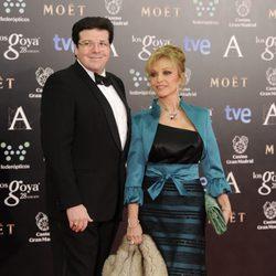 Carlos Cánovas y Silvia Tortosa en los Goya 2014