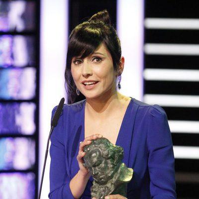 Marian Alvarez recogiendo el Goya a mejor actriz