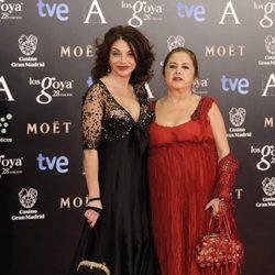 Neus Asensi en la alfombra roja de los Goya 2014