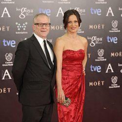 Thierry Frémaux y Aitana Sánchez Gijón en los Premios Goya 2014