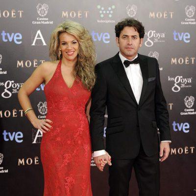 Lucía Díaz y Antonio Garrido en los Goya 2014